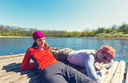 Couple in lake