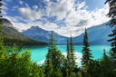 Serenity Emerald Lake in the Yoho National Park, Canada. Instagram filter