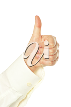 Royalty Free Photo of a Man Giving a Thumbs Up