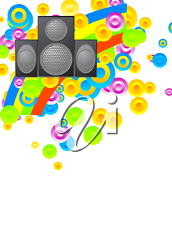 Royalty Free Clipart Image of a Musical Design Background