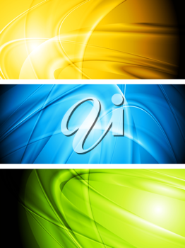 Royalty Free Clipart Image of a Set of Banners