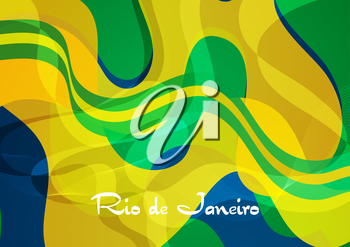 Abstract concept wavy pattern Brazil background. Vector 2016 graphic design