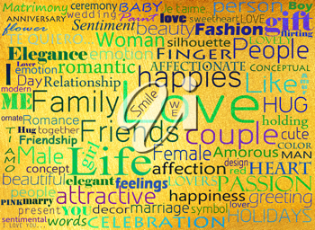 Royalty Free Photo of Words Relating to Love