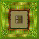 Royalty Free Clipart Image of a Computer Processor
