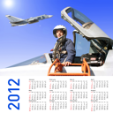 2012 Calendar with a military pilot and aircraft