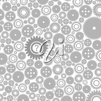 Background made of gears. A vector illustration