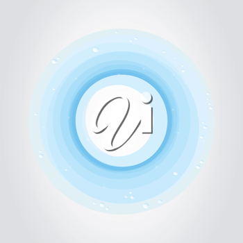 Blue circle from water. A vector illustration