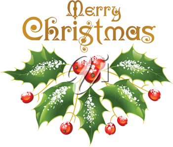 Royalty Free Clipart Image of Christmas Greeting