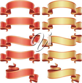 Royalty Free Clipart Image of a Banner Set