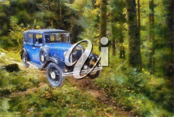 Royalty Free Photo of an Oil Painting of an Austin Berkeley 1932