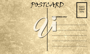 Royalty Free Photo of a Vintage Stained Postcard