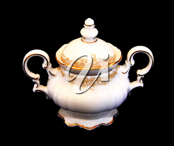 Royalty Free Photo of an Expensive Porcelain Sugar Pot