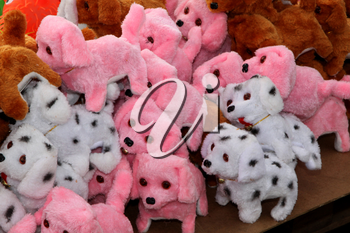 RUSTENBURG, SOUTH AFRICA - MAY 25: Various Stuffed Toys on Sale at Stall at Rustenburg Fair on May 25, 2014 in Rustenburg South Africa.