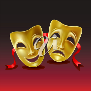 Theatrical masks.  Mesh. Clipping Masksolated. Mesh. Clipping Mask