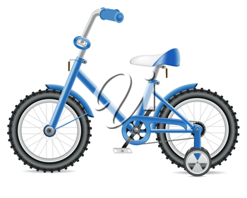 Royalty Free Clipart Image of a Childs Bicycle