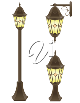 Royalty Free Clipart Image of a Streetlight