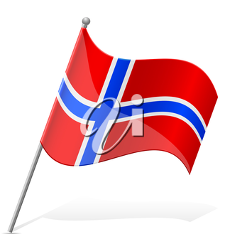 flag of Norway vector illustration isolated on white background