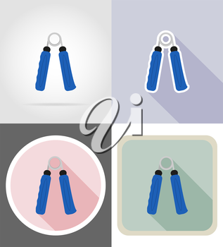 expander flat icons vector illustration isolated on background