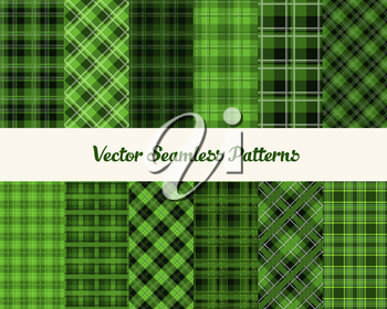 Patrick day patterns in green colors