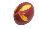 egg with a leaf pattern on Orthodox Easter