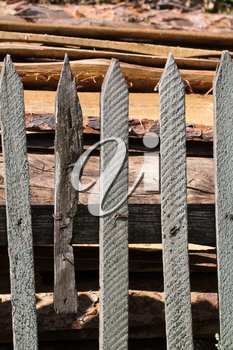 Background of wooden logs