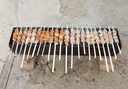 grilled skewers on the grill