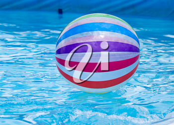 a large ball in the pool