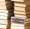 stack of old books as a background