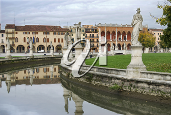 Landscape on Canal Public Square Padova in Italy