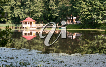 Royalty Free Photo of a Building on the Water