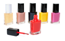 Royalty Free Photo of a Bunch of Nail Polish