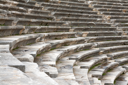 Royalty Free Photo of the Ancient Amphitheater in Side, Turkey