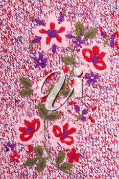 Royalty Free Photo of a Knitted Floral Pattern