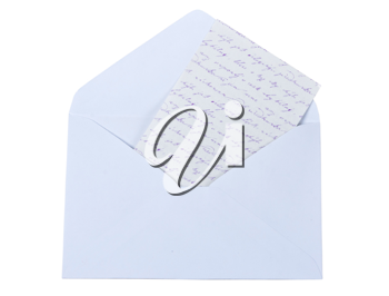 Royalty Free Photo of a Letter in an Envelope