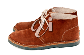 Royalty Free Photo of a Pair of Brown Suede Shoes