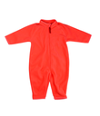 Red rompers fleece. Isolate on white.