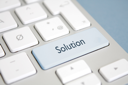 Royalty Free Photo of a Solution Button on a Keyboard