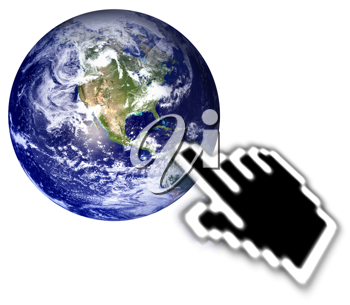Royalty Free Photo of a Browse the World Concept