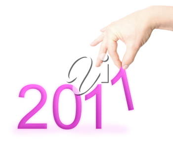 Royalty Free Photo of the Numbers 2011