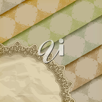 Royalty Free Clipart Image of a Background of a Lined Pattern