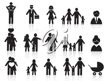 Royalty Free Clipart Image of a Bunch of People