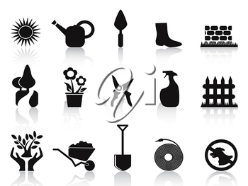 Royalty Free Clipart Image of Garden Icons