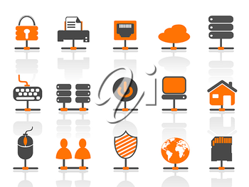 Royalty Free Clipart Image of Network Connection Icons