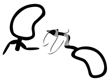 isolated funny Male and female gender sign from white background