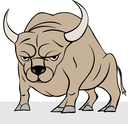 Royalty Free Clipart Image of a Bull