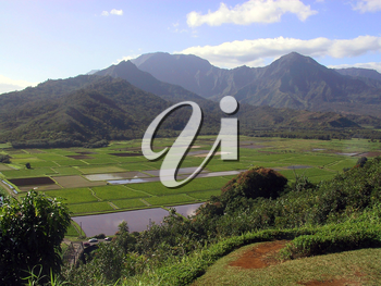 Royalty Free Photo of Hanalei Valley in Hawaii