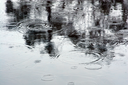 Royalty Free Photo of a Puddle With Raindrops