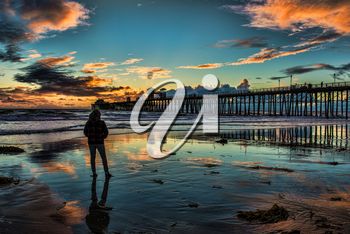 Royalty Free Photo of a Person at the Beach