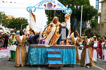 Royalty Free Photo of People Performing in a Parade