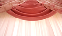 Royalty Free Photo of Pink Curtains